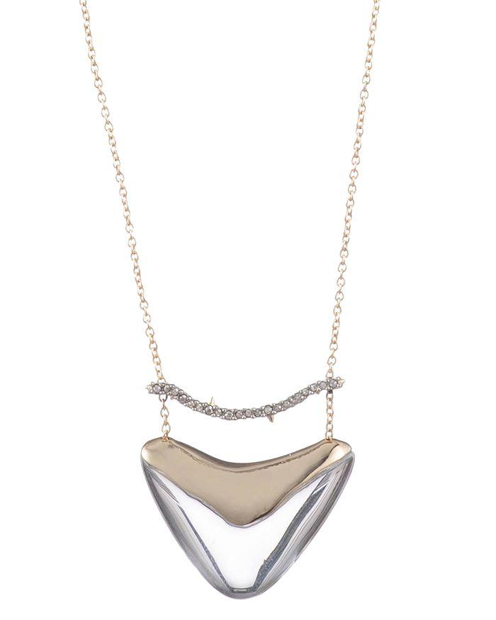 "Alexis Bittar - Crystal Bar Shield Pendant Necklace, 16"""