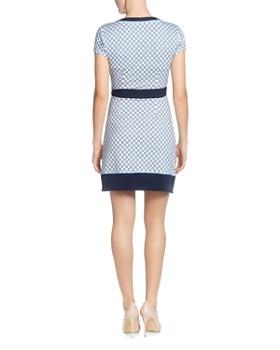 c6df27ef ... T Tahari - Dotted Faux-Wrap Dress