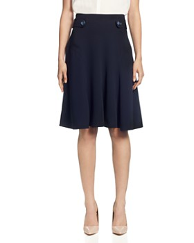 42153b1ac27 T Tahari - Button-Tab A-Line Skirt ...