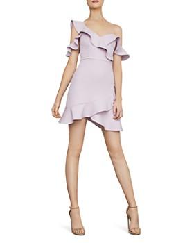 4df23f1414e778 BCBGMAXAZRIA - Ruffled Cold-Shoulder Dress - 100% Exclusive ...