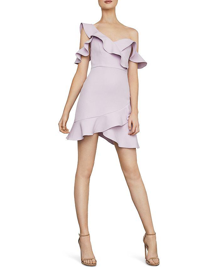 0e552378c3 BCBGMAXAZRIA Ruffled Cold-Shoulder Dress - 100% Exclusive ...