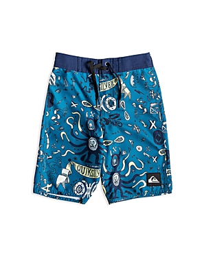 Quiksilver Boys' Mystery Bus Boy Graphic Volley Shorts - Little Kid