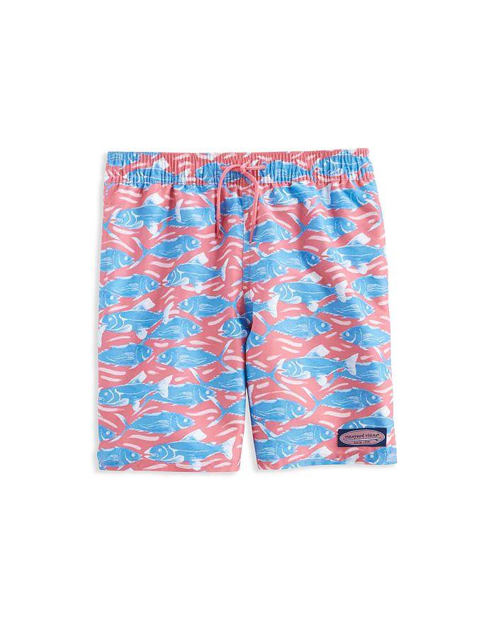 Vineyard Vines - Boys' Swimming With The Fish Chappy Swim Shorts - Little Kid, Big Kid