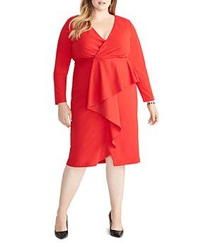 Rachel Roy Plus - Joanna Ruffle-Front Sheath Dress