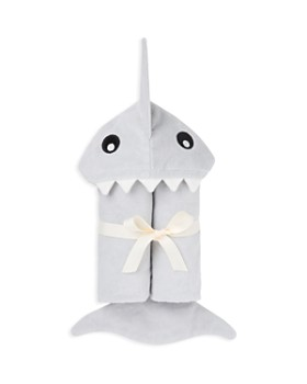 Elegant Baby - Boys' Shark Bath-Wrap Towel - Baby
