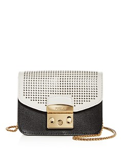 Furla - MY PLAY Interchangeable Metropolis Mini Studded Leather Flap
