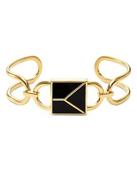 Michael Kors - Mercer Padlock Cuff Bracelet in 14K Gold-Plated Sterling Silver