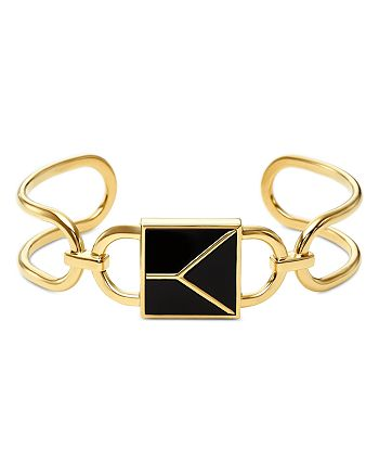 Michael Kors - Mercer Padlock Cuff Bracelet in 14K Gold-Plated Sterling Silver
