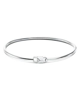 Michael Kors - Mercer Padlock Flexi Bracelet in 14K Gold-Plated Sterling Silver, 14K Rose Gold-Plated Sterling Silver or Sterling Silver
