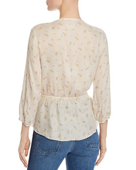 CHASER - Pintucked Floral-Print Top