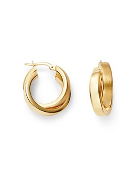 1bf73a66a Bloomingdale's - Crossover Hoop Earrings in 14K Yellow Gold - 100%  Exclusive ...