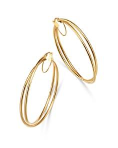 Bloomingdale's - Crossover Hoop Earrings in 14K Yellow Gold - 100% Exclusive