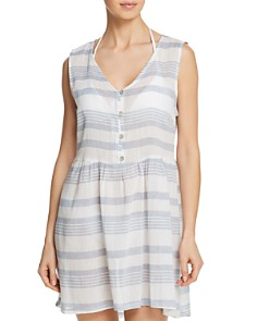 J. Valdi - Sardinia Button-Front Dress Swim Cover-Up