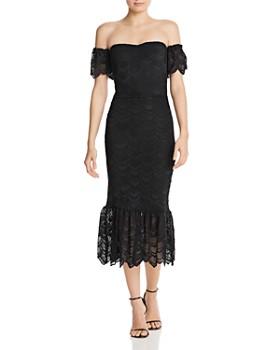 Nightcap - Nightcap Victorian Flutter Lace Midi Mermaid Dress