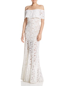 Nightcap - Positano Lace Off-the-Shoulder Maxi Dress