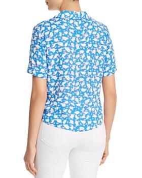Finn & Grace - Printed Tie-Front Shirt