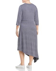 B Collection by Bobeau Curvy - Clara Striped Asymmetric Twist Front Dress