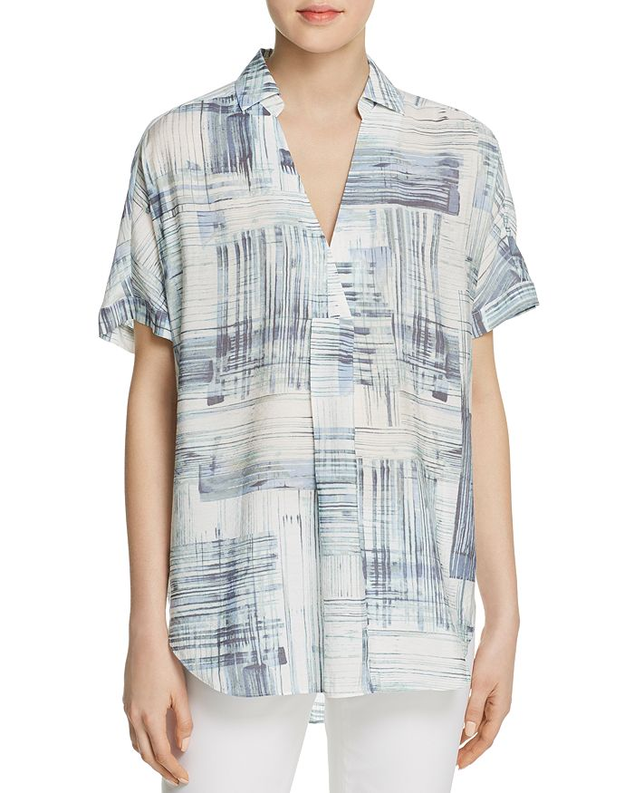 NIC and ZOE - Shoreline Grid Printed Tunic