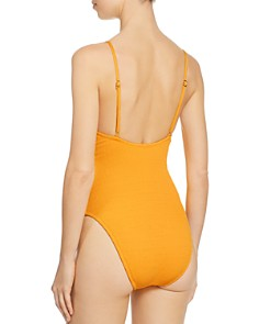 Trina Turk - Cabana Solids V-Plunge One Piece Swimsuit