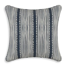"Sparrow & Wren - Bennett Stripe Navy Ground Down Pillow, 20"" x 20"""