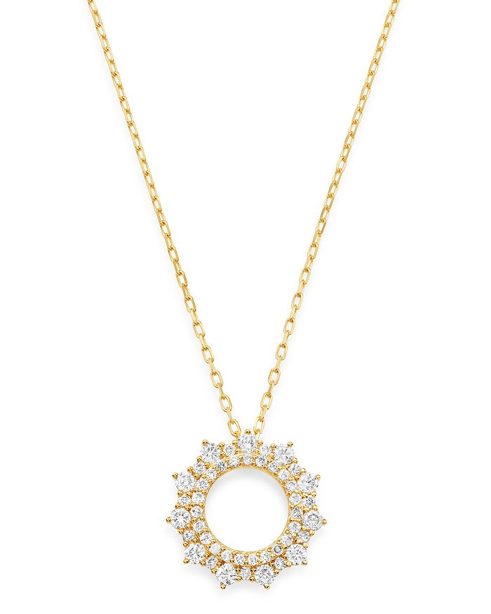 Bloomingdale's - Diamond Circle Pendant Necklace in 14K Yellow Gold, 0.50 ct. t.w. - 100% Exclusive