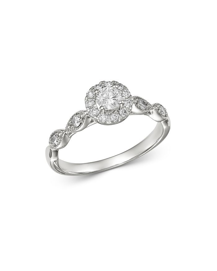 Bloomingdale's - Round Diamond Engagement Ring in 14K White Gold, 0.50 ct. t.w. - 100% Exclusive