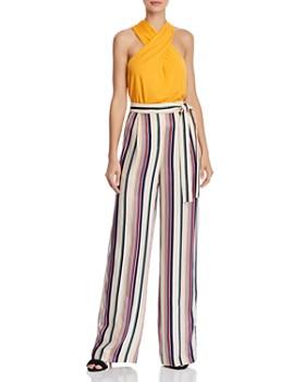KAREN MILLEN - Striped Wide-Leg Pants - 100% Exclusive