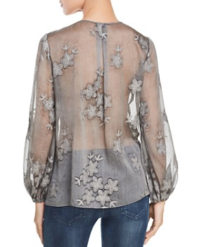 fd1ddefe55ce2 ... Elie Tahari - Hallie Sheer Embroidered Top