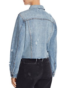 Pistola - Naya Stud-Detail Cropped Denim Jacket