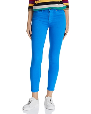 Hudson Jeans BARBARA HIGH-RISE ANKLE SKINNY JEANS IN COBALT