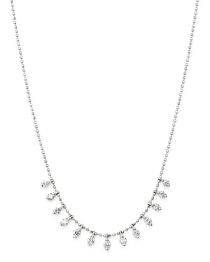 Bloomingdale's Diamond Droplet Necklace in 14K White Gold, 0.50 ct. t.w. - 100% Exclusive