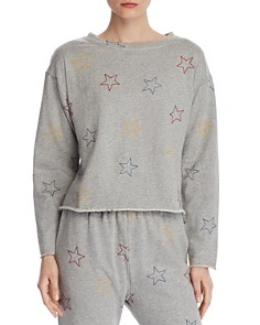 Honey Punch - Star Embroidered Sweatshirt