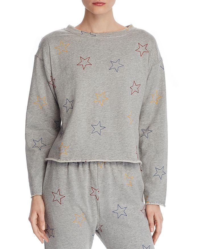 Honey Punch - Star Embroidered Sweatshirt