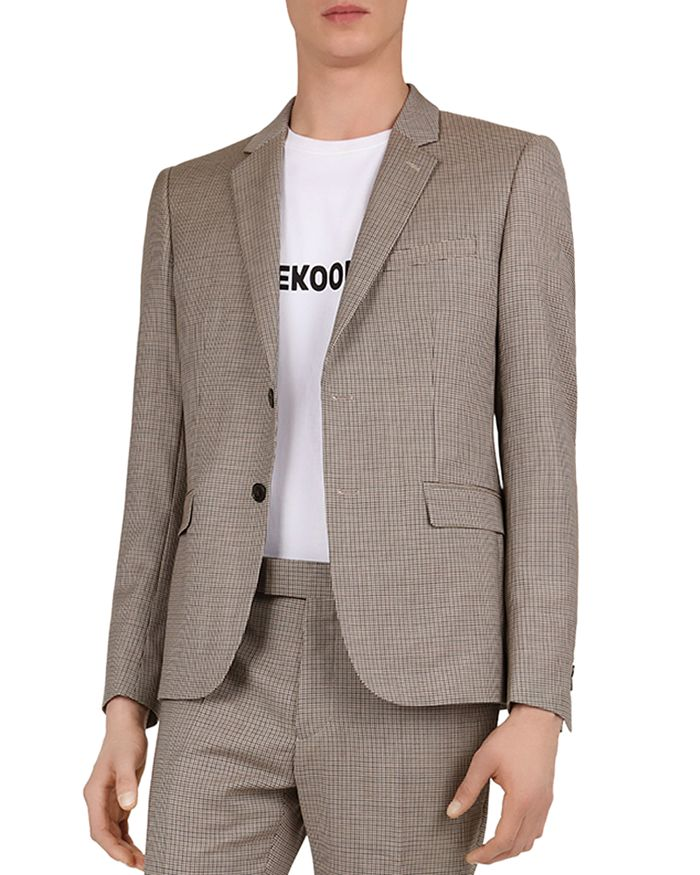 The Kooples - Purple Houndstooth Regular Fit Blazer