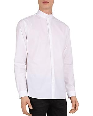 The Kooples Mandarin Collar Slim Fit Shirt