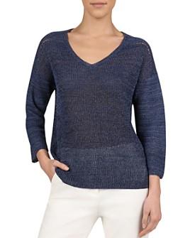 Gerard Darel - Josepha Semi-Sheer V-Neck Sweater - 100% Exclusive