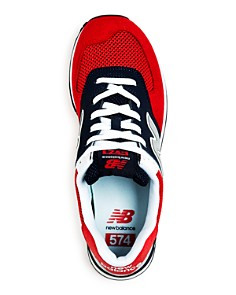 New Balance - Men's 574 Mixed-Media Low-Top Sneakers