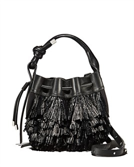 Behno - Ina Mini Raffia Fringe Bucket Crossbody - 100% Exclusive