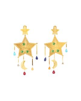 Mercedes Salazar - Estrella Arcoiris Clip-On Earrings