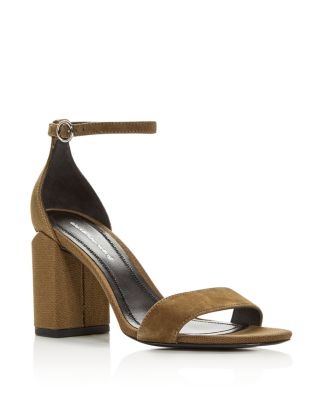 Women's Abby Utilitarian High Block Heel Sandals by Alexander Wang