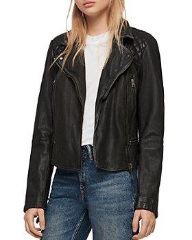 ALLSAINTS - Cargo Quilted Leather Biker Jacket