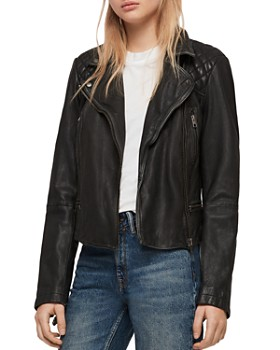 9e27a0da ALLSAINTS - Cargo Quilted Leather Biker Jacket ...
