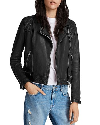 aacbb660e4 ALLSAINTS - Conroy Quilted Leather Biker Jacket
