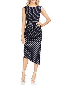 VINCE CAMUTO - Sleeveless Striped Sheath Dress