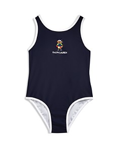 Ralph Lauren - Girls' Scuba Bear Swimsuit - Baby