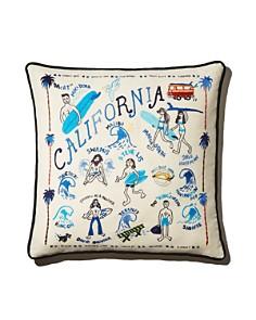 Aloha Zen - California Embroidered Decorative Pillow