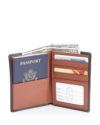 ROYCE New York - Leather RFID -Blocking Wallet & Passport Holder