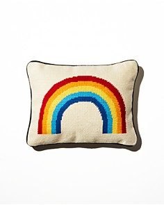 Aloha Zen - Rainbow Needlepoint Decorative Pillow