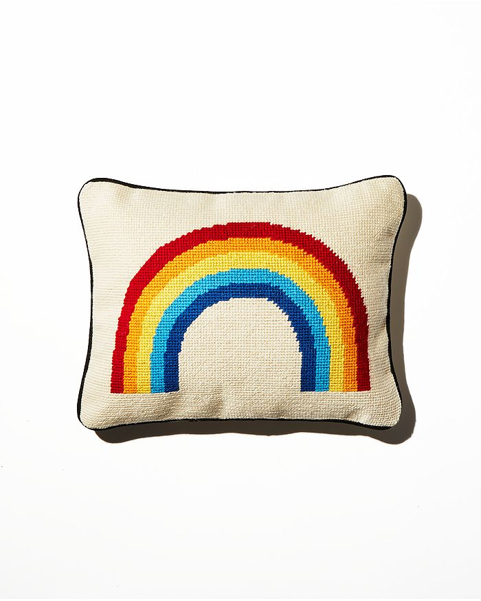 Aloha Zen - Rainbow Needlepoint Decorative Pillow