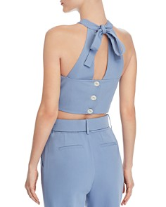 CHRISELLE LIM - Button-Back Cropped Top - 100% Exclusive